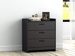 Central Park Chest of Drawers, Black, rollover