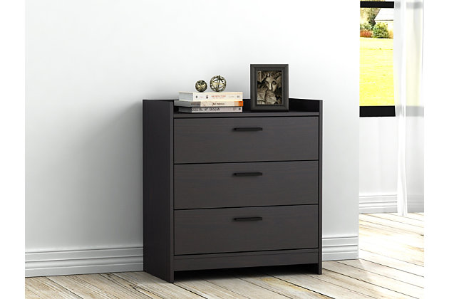 Central Park Chest of Drawers, Black, large
