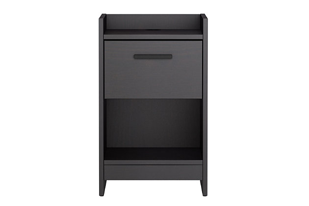 Central Park Nightstand, Black, large