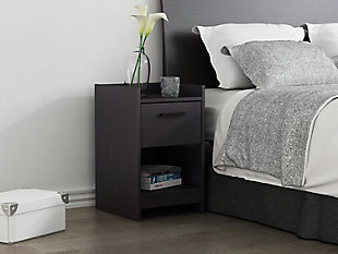 Central Park Nightstand, Black, rollover