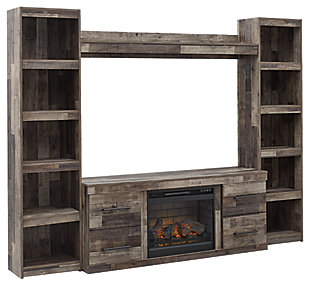 Derekson 4-Piece Entertainment Center with Electric Fireplace, , large