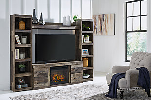 Derekson 4-Piece Entertainment Center with Electric Fireplace, , rollover