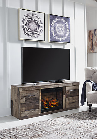 "Derekson 63"" TV Stand with Electric Fireplace, , rollover"