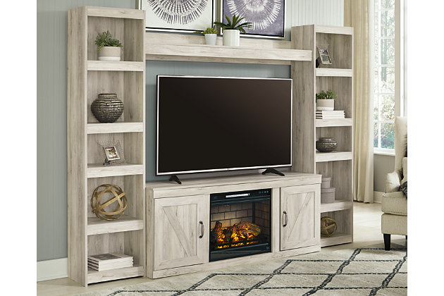 Bellaby 4-Piece Entertainment Center with Electric Fireplace, , large