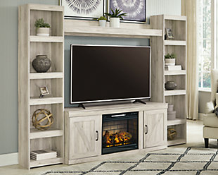 Bellaby 4-Piece Entertainment Center with Electric Fireplace, , rollover
