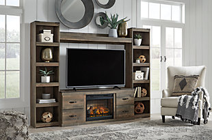Trinell 4-Piece Entertainment Center with Electric Fireplace, , rollover