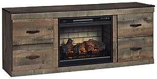 "Trinell 60"" TV Stand with Electric Fireplace, , large"