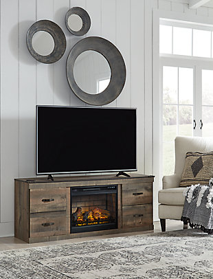 "Trinell 60"" TV Stand with Electric Fireplace, , rollover"