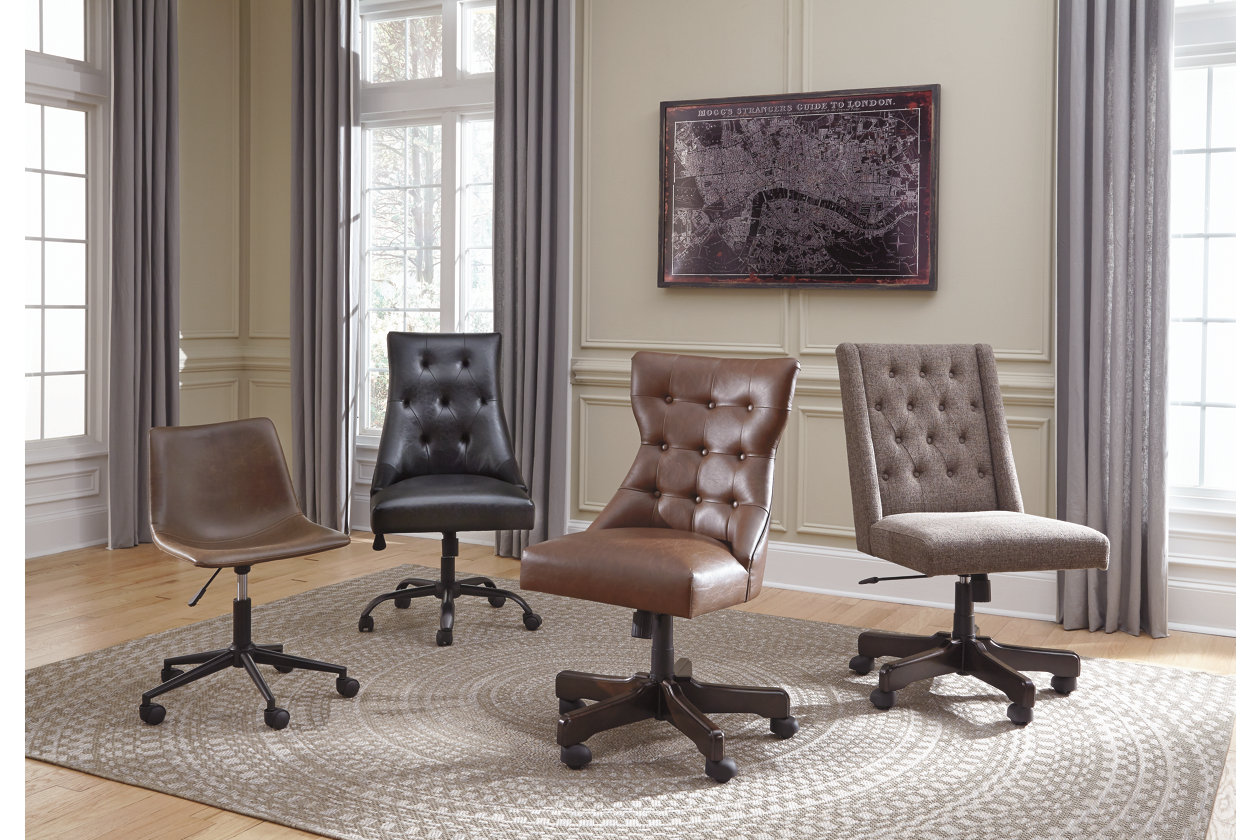 Brown Swivel Home Office Desk Chair Ashley Furniture Homestore