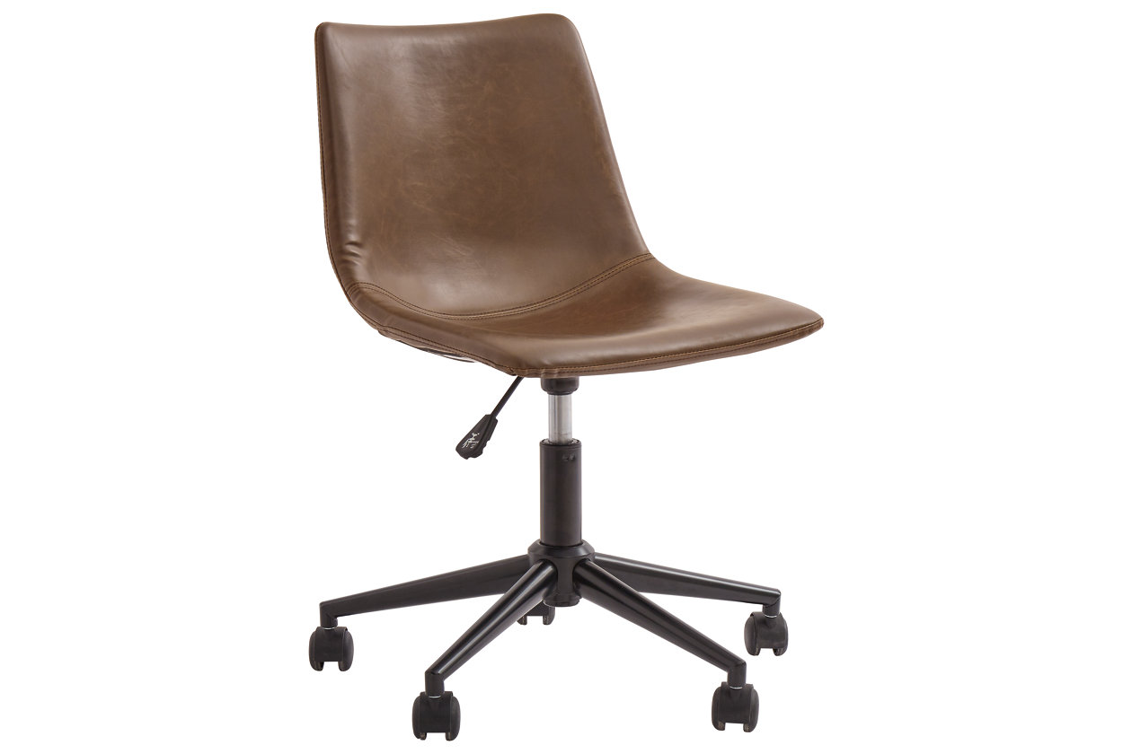 Brown Swivel Home Office Desk Chair Ashley Furniture Homestore
