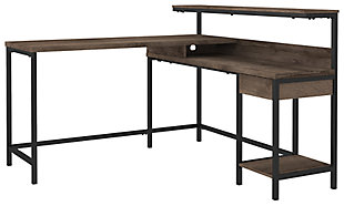 Arlenbry Home Office L-Desk with Storage, , large