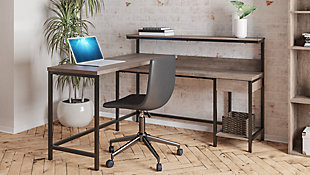 Arlenbry Home Office L-Desk with Storage, , rollover