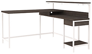 Dorrinson Home Office L-Desk with Storage, , large