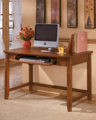 Home Office Desk Medium Brown Island Product Photo 2482