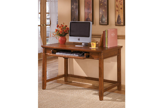 "Cross Island 48"" Home Office Desk by Ashley HomeStore, Brown"