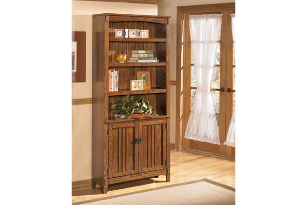 "Cross Island 75"" Bookcase by Ashley HomeStore, Brown"