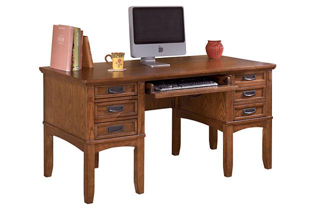 Cross Island 60 Quot Home Office Desk Ashley Furniture Homestore