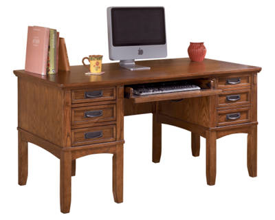 Cross Island Home Office Storage Leg Desk
