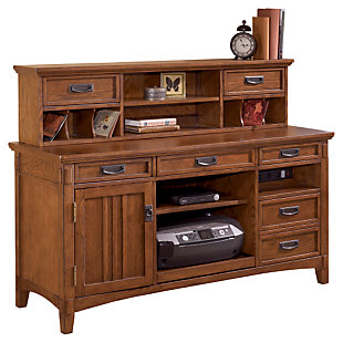 Cross Island 2-Piece Home Office Large Credenza with Low Hutch, , large