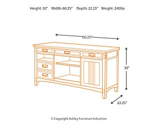"Cross Island 60"" Credenza, , large"