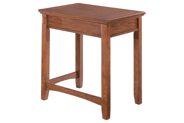 Cross Island Corner Table by Ashley HomeStore, Brown