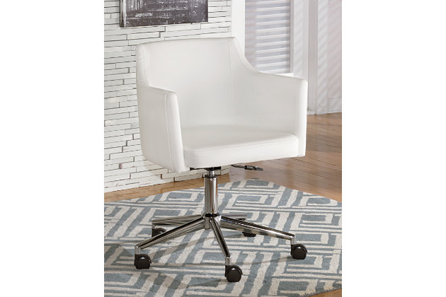 white baraga home office desk chair view 1