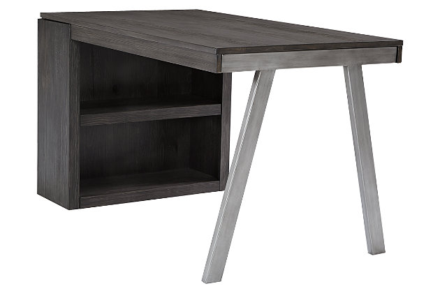 Raventown Medium Bookcase Desk Return, , large