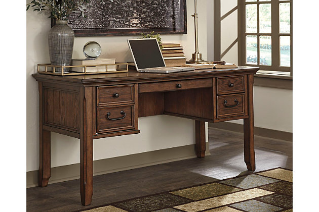 "woodboro 60"" home office desk | ashley furniture homestore"