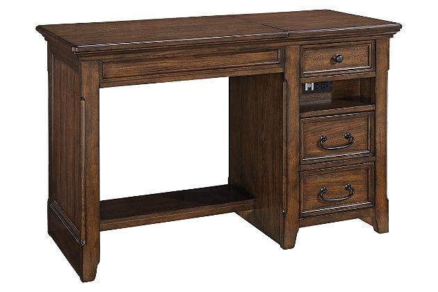 brown woodboro 48 ashley furniture home office desk