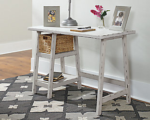 "Mirimyn 42"" Home Office Desk, Antique White, rollover"