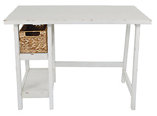 "Mirimyn 42"" Home Office Desk, Antique White, large"