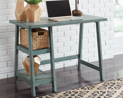 "Mirimyn 42"" Home Office Desk, Teal, large"