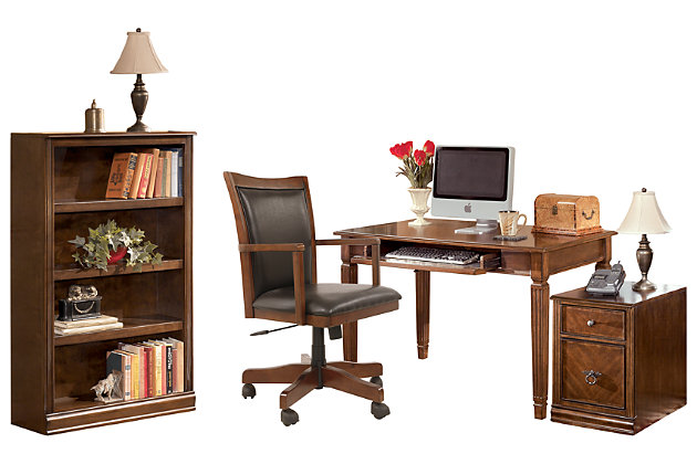 Hamlyn Home Office Desk with Chair and Storage, , large