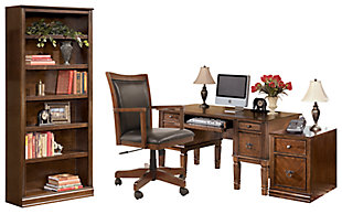 Hamlyn Home Office Desk with Chair and Storage, , rollover