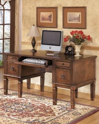 "Ashley Hamlyn 60"" Home Office Desk, Medium Brown"