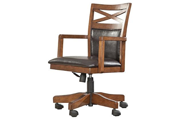 medium brown burkesville home office desk chair view 2 burkesville home office desk