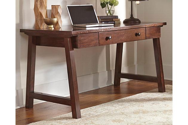 dark brown wassner home office desk view 1 ashley furniture home office desk