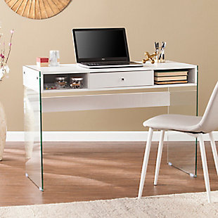 Brenna Writing Desk with Glass Legs, , rollover
