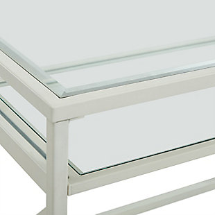 Pennie Metal/Glass Small-Space Desk, , large