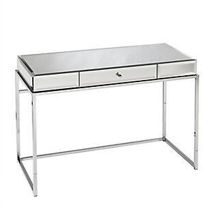 Chintan Mirrored Desk with Drawer, , large