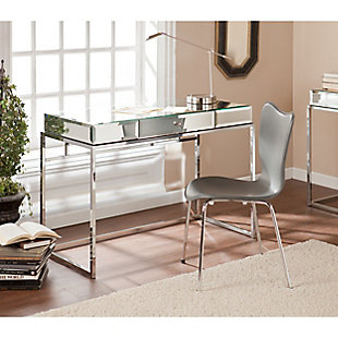 Chintan Mirrored Desk with Drawer, , rollover