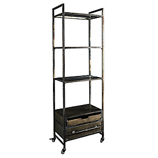 Reed Metal Four Tier Bookcase, , large