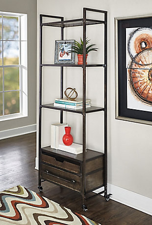Reed Metal Four Tier Bookcase, , rollover