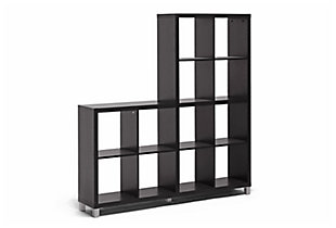 Sunna Modern Cube Shelving Unit, , large