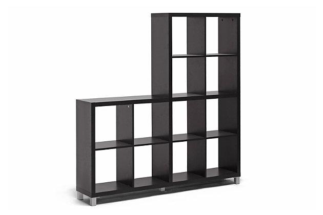 Sunna Modern Cube Shelving Unit, , large