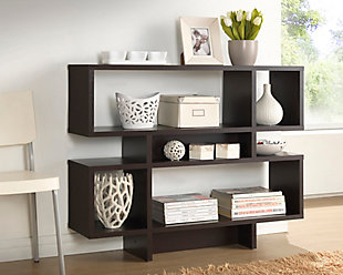 Three Level Modern Bookshelf, , rollover