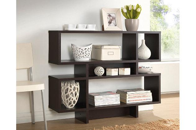 Three Level Modern Bookshelf, , large