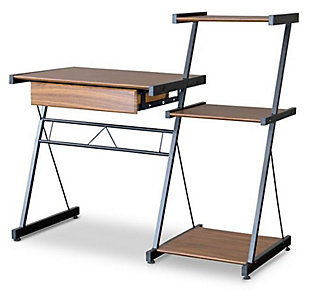 Three Shelf Semester Computer Desk, , large