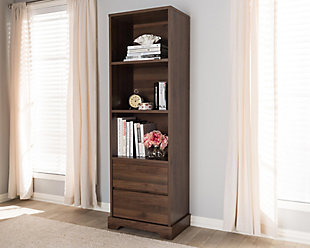 Burnwood 2-Drawer Bookcase, , large