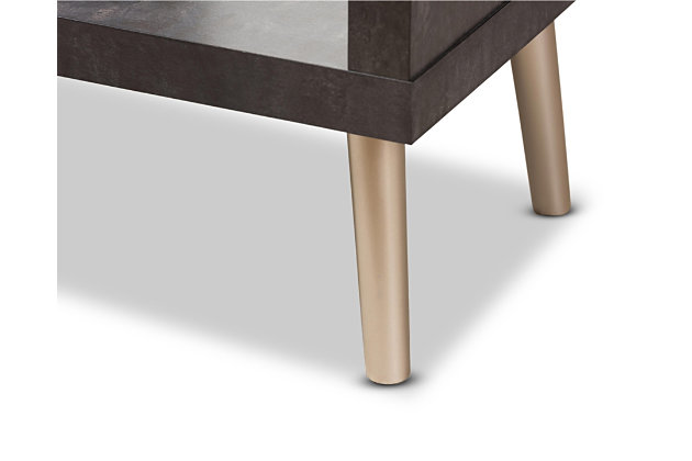 Two Tone Contemporary Display Shelf, , large
